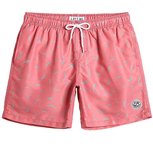 MaaMgic Mens Quick Dry Swim Trunks Flamingo Beach Boardshorts with Mesh Lining Bathing Suit Sports Shorts -