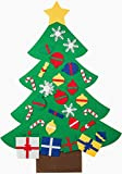 MATRIX WIZARD New Wall and Window Hanging Felt Christmas Tree with Ornaments (3 feet) - for Kids/Toddlers, Offices, Homes and Schools