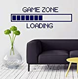 Large Game Zone Computer Gaming Loading Video Game Black Wall Decals Mural Decor