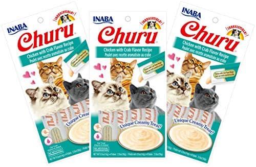 INABA Churu Chicken with Crab Flavor Recipe Lickable Pur e Natural Cat Treats 12 Tubes