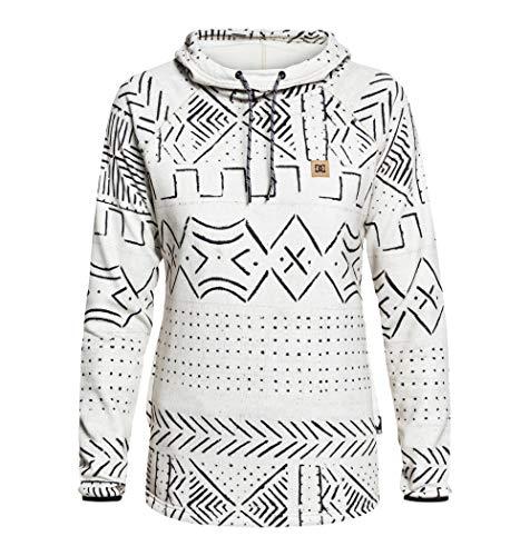 - DC Apperal Women's DWR Fleece Sweatshirt, Silver Birch Mud Cloth, Size Medium