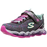 Skechers Kids Girls' Glimmer Lights Sneaker, Black/Multi, 11.5 M US Little Kid
