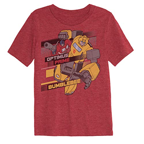 Jumping Beans Boys 4-12 Transformers Bumblebee Optimus Graphic Tee 5 Red Heather]()