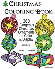 Top 25 Christmas Coloring Books Postcards Gift Tags for Adults 2017