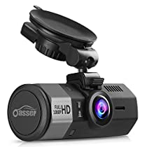Oasser Dash Cam Car Full HD 1080P Dashboard Camera Dash Cam for Cars with G-Sensor 170° Angle Night Vision Loop Recording Mute Function GPS Supporting 1.5 Supporting up to 32GB TF Card U1[Improved Mount]