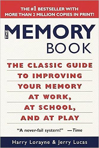 Memory Book Harry Lorayne Jerry Lucas