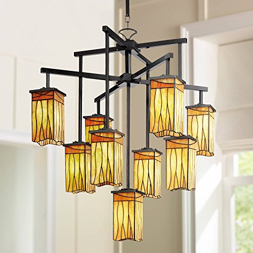 Sedona Collection 32 1 2 Wide 9-Light Art Glass Chandelier – Robert Louis Tiffany