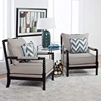 Studio Designs Home 72014 Colonnade Spindle Chair, Latte