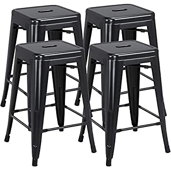 Fabulous Amazon Com Fdw Metal Bar Stools Set Of 4 Counter Height Gmtry Best Dining Table And Chair Ideas Images Gmtryco