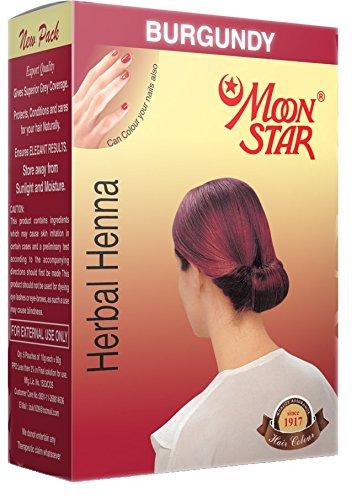 Buy Moon Star Herbal Henna Burgundy Hair Colour 6 Packs Of 10 Gms