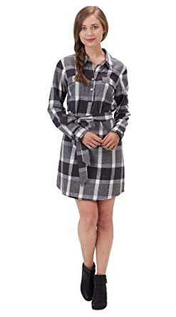 Mud Pie Womens Plaid Bale Flannel Shirt Dress At Amazon Women S