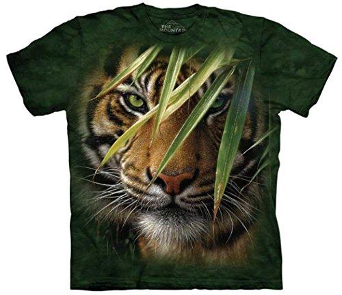 (Emerald Forest Medium Cotton Tigers T-Shirt Green Youth Short Sleeve T-Shirt)