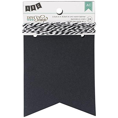 (DIY Shop Chalkboard Notch Banner by American Crafts | 24-piece | Includes string)