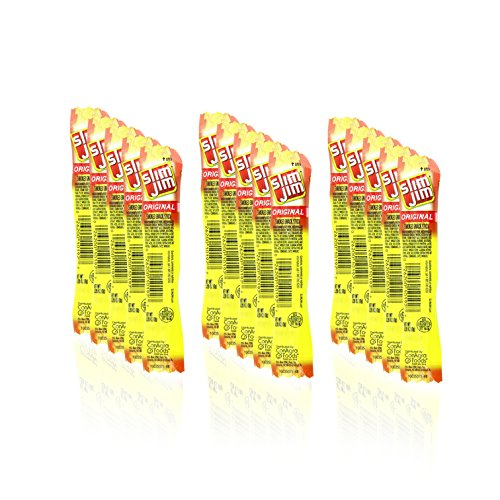 Slim Jim Original Snack Sticks, 0.28 Ounce, 15 Count Paper Free Eco Packaging