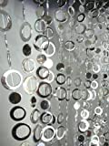 3 Ft X 6 Ft Hip Circle Beaded Curtain - Room Divider Silver