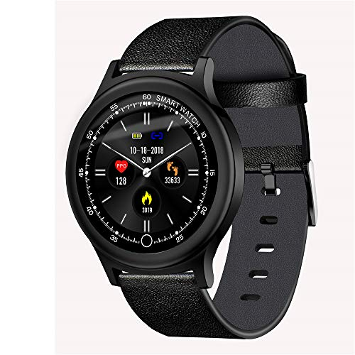 Bluetooth Smart Watch Round Screen Waterproof Sports Bracelet Multi-UI Color Screen Heart Rate Blood Pressure Monitoring A Variety of Sports Modes for Outdoor Swimming, Hiking, Hiking, Skiing, Etc.