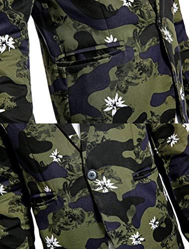 Camuflaje Chaqueta Leisure Militar Abrigo De Chaqueta Estampado para De Grün con Hombre con Capucha Slim Tamaños Cómodos Chaqueta Ropa Ropa Fit Chaqueta Camuflaje De vw0OUxvq