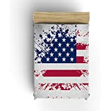 US National Flag Sputtering Style Independence Day Flannel Fleece Modern Blanket Lightweight Cozy So
