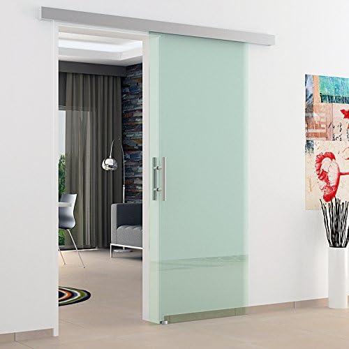 Puerta corredera cristal 1025 x 2050 mm con carril de & barras asas, fabricación Alemana fabricante LEVIDOR - fabricado en Alemania con tecnología de alta calidad garantizada: Amazon.es: Bricolaje y herramientas