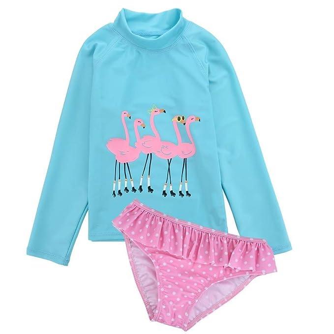 Amazon.com: Little Girls Rash Guard - Conjunto de traje de ...
