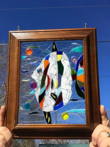 Tropical Fish stained glass window art sun catcher