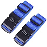 CARTMAN Luggage Straps Suitcase Belts Travel Bag Accessories 2Pack, 200cm 78inch, Blue
