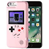 LayOPO Gameboy iPhone Case, iPhone Case Game Console with 36 Small Games,Color Screen,Retro 3D Gameboy Design for iPhone Xs/X,iPhone8/8 Plus,iPhone 7/7 Plus,iPhone 6/6Plus (iPhone 6P/7P/8P, Pink)