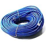 Link-e ® : Cable reseau ethernet RJ45 100m CAT.6 bleu, qualité pro, haut débit, connexion internet, Box, TV, PC, consoles, PS4, PS3, Xbox, Switch, Routeur...