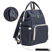 SUNVENO Diaper Bag Mummy Maternity Nappy Bag Large Capacity Baby Bag Travel Backpack Nursing Bag for Baby Care (Black)