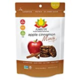 Amrita Organic Protein Mini Bars, Low Carbs & Sugar, Vegan, 3 Pouch Pack, 6 Mini Bars Each (Apple Cinnamon) For Sale