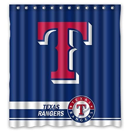 Best Home Choice MLB Texas Rangers Polyester Bathroom Waterproof Shower Curtain 66Wx72H Amazoncouk Kitchen