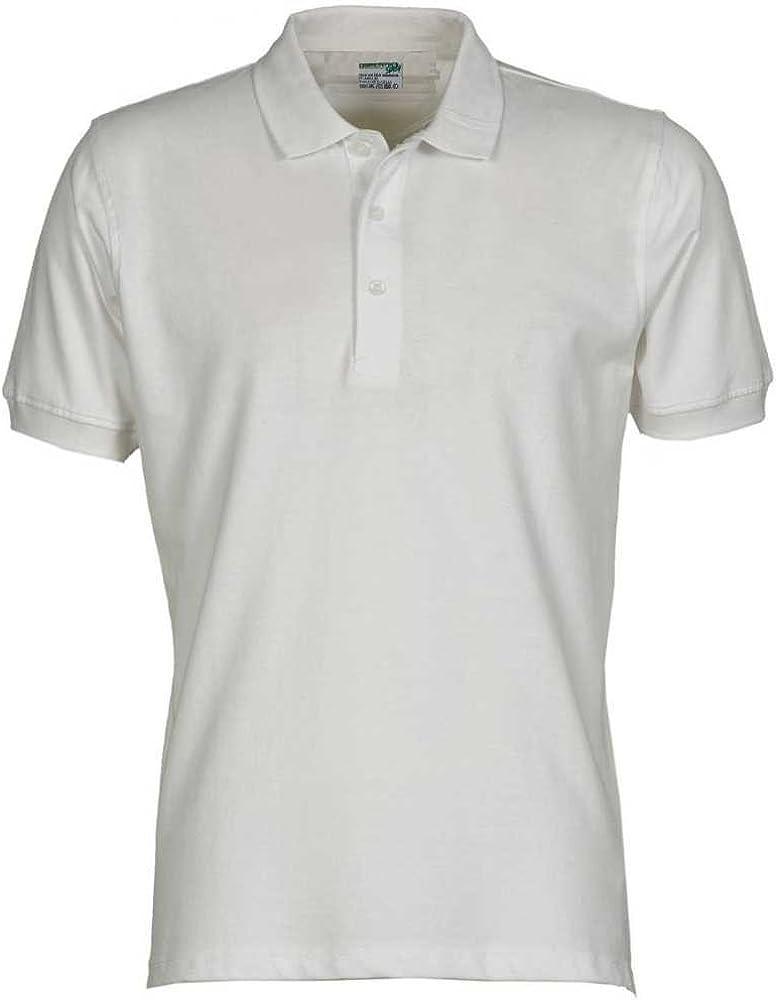 JOBLINE Polo para Hombre XL Bianco COTONE 100%: Amazon.es: Ropa y ...
