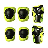 Toys : Kids Protective Pads MAXZOLA Knee Pads Elbow Pads Wrist Guards 3 In 1 Protective Gear Set (Green)