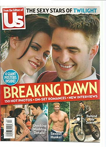 Us WEEKLY MAGAZINE 2012, THE SEXY STARS OF TWILIGHT, 4 GIANT POSTERS INSIDE
