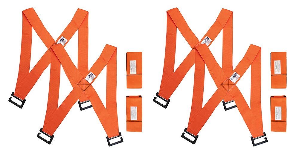 Forearm Forklift Harness, Complete Set, Pack of 2 | 2 Person Moving System | Lift furnishings Easily | Rated up to 800 lbs.
