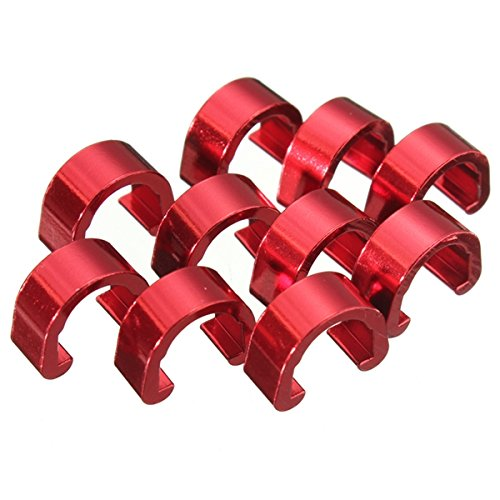 Bicycle C-Clips Buckle Cable Guides Brake Hose Housing MTB BMX Road Mountain Bike (Red)