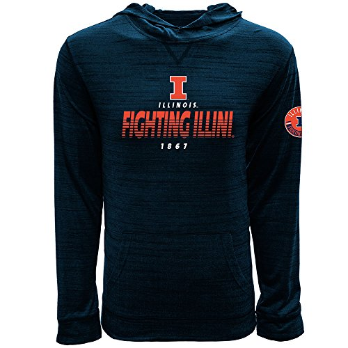(Levelwear LEY9R NCAA Illinois Illini Men's Anchor Static Pullover Hoodie, Small, Heather Navy)