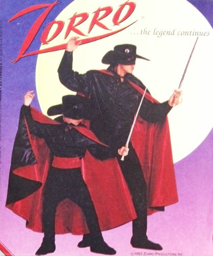 (OOP McCall's Pattern 8872. Boys Sz 7/8 Zorro Costume: Lined Cape; Cummerbund; Hat, Gauntlets; Boots; Pants; Mask; Shirt)