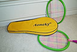 Aoneky Badminton Set for Kids Toddlers, Children Outdoor Toys by Age 3 - 5 , Best Gifts for Girls, Boys, Green