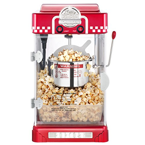 Great Northern Popcorn Company 6073 GNP Little Bambino Red GNP Little Bambino 2-1/2 Ounce Retro Style Popcorn Popper Machine by Great Northern Popcorn Company (Image #1)