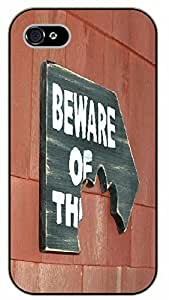iPhone 5C Beware of the dog sign- black plastic case / dog, animals, dogs