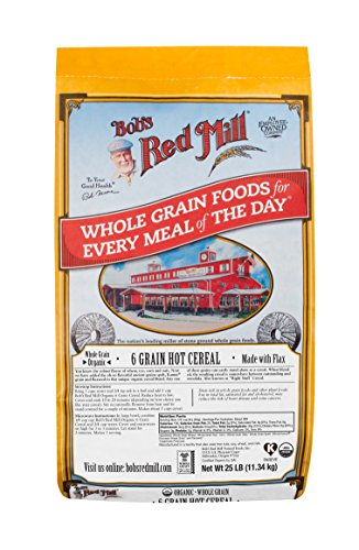 Bob's Red Mill Organic 6 Grain Hot Cereal with Flaxseed, 25 Pound