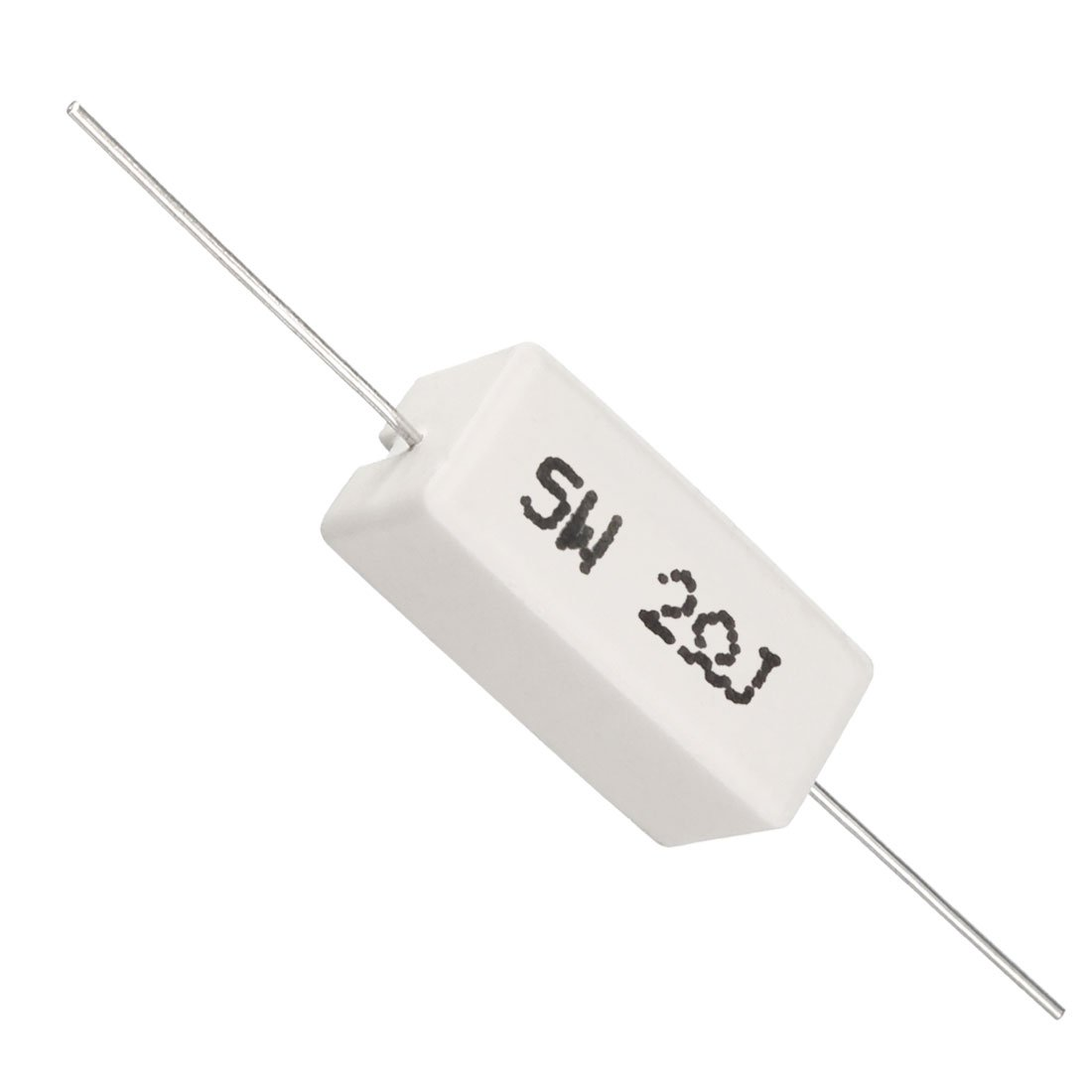 sourcing map 5W 0.68 Ohm Power Resistor Ceramic Cement Resistor Axial Lead 10 Pcs White
