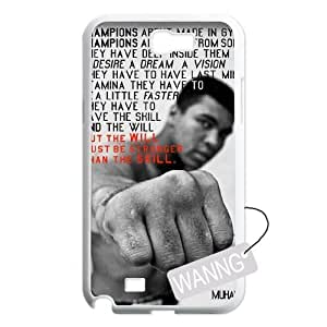 Muhammad Ali Samsung Galaxy Note2 N7100 Phone Case, Muhammad Ali DIY Case for Samsung Galaxy Note2 N7100 at WANNG