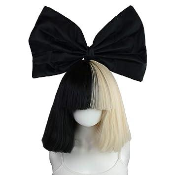 Amazon.com  Officially Licensed Sia Costume Wig Includes Black Bow Tie   Beauty 5726da78a