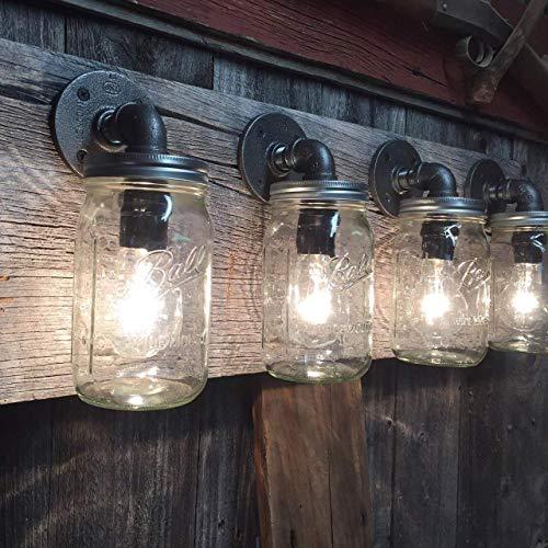 5 Bulb Rustic Barn Wood Bathroom Vanity Light Bar Lighting Handmade Products Fcteutonia05 De