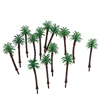 ROSENICE Model Trees Mini Green Scenery Landscape Model Coconut Palms Tree - 14 Pieces