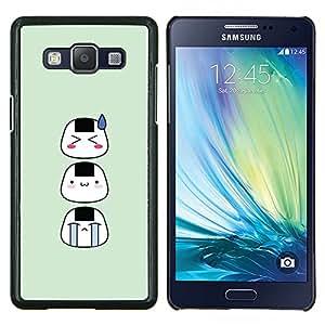 TECHCASE---Cubierta de la caja de protección para la piel dura ** Samsung Galaxy A5 ( A5000 ) 2014 Version ** --Los rostros asiáticos divertidos