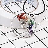 Joya Gift Tree of Life Keychain Natural Crystal