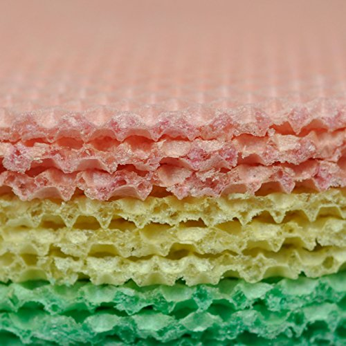 (Wafer Sheets Pack of Nine Round Tort Wafers Green White Pink 3.2oz (90g) (Pack of 2))
